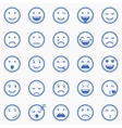 Set of Emoticons Set of Emoji Set of Avatar vector image vector image