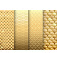 set of gold textures backgrounds vector image vector image