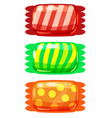 set of sweets color candy on white background vector image vector image