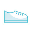 shadow shoe cartoon vector image vector image