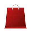 shopping online paper bag commerce vector image