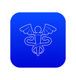 sign medicine icon blue vector image vector image