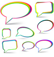 Speech signs set vector image vector image