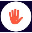 Stop hand computer symbol vector image vector image