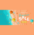 summer sale beach holiday banner layered sea vector image