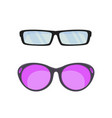 sunglasses in flat style vector image vector image