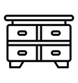 table drawer icon outline style vector image vector image