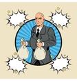 Thief man cartoon design vector image
