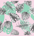 tropical leaves seamless pattern botanical vector image