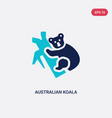 two color australian koala icon from culture vector image
