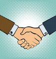 two men shake hands vector image
