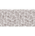 white pattern with black blossom vector image vector image