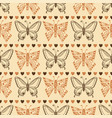 zentangle butterfly pattern autumn seamless vector image vector image