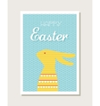 Easter design with cute bunny greeting card or vector image