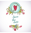 Save the date floral card Vintage invitation vector image