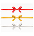 red gold silver color bow knot and ribbon vector image