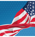 USA flag in the wind vector image
