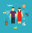 icons set of traveling tourism vector image
