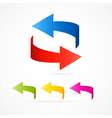 Abstract 3d Arrow Icons vector image