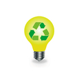 Bulb with recycle icon vector image