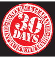 30 days money back guarentee stamp vector image vector image