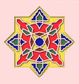 arabesque arabic tile orient colorful stained vector image vector image