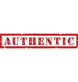 Authentic red stamp vector image vector image