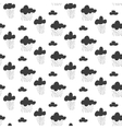 Baby seamless pattern Black fun rainy sky vector image vector image