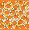 background pattern with pumpkins vector image vector image