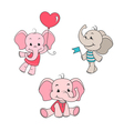 baelephant cartoon characters set vector image vector image