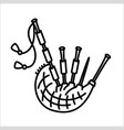 bagpipes scotland native music instrument icon vector image vector image