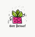 birthday present postcard for your design vector image vector image