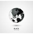 Black Globe vector image vector image