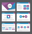 Blue purple presentation templates Infographic set vector image vector image