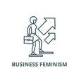 business feminism line icon business vector image