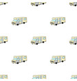 campervan icon in cartoon style isolated on white vector image vector image