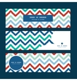 colorful ikat chevron horizontal banners set vector image vector image