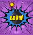 comic explosive and burst concept vector image