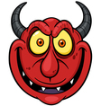Devil face vector image vector image