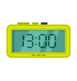 digital alarm clock green electronic time vector image vector image