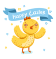 Easter nestling vector image vector image
