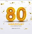 eightieth anniversary celebration number vector image vector image