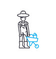 farmer linear icon concept farmer line vector image