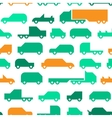 flat with simple little cars seamless vector image