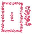 flower frame pink 2 380 vector image vector image