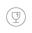 fragile symbol linear icon vector image