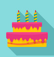 gift cake icon flat style vector image vector image