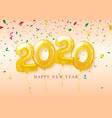 happy new year 2020 celebration festive vector image vector image