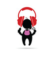 headphones with baby vector image