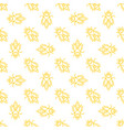 honey bee seamless pattern in thin line vector image vector image